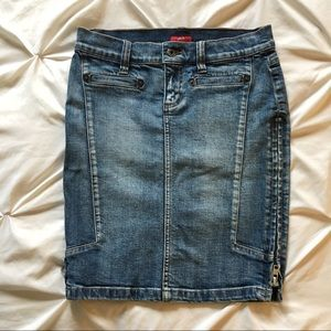 Vintage Guess 2000's denim skirt with side zippers